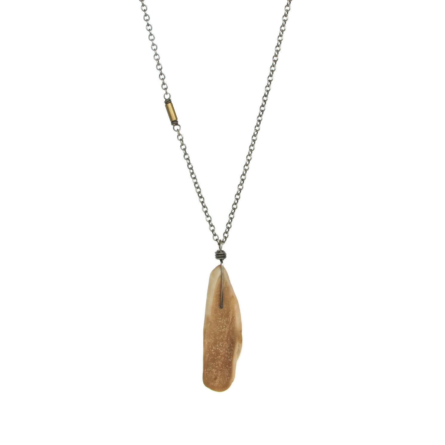 tusk metallic pendant lane necklace jay in kenneth lyst ivory jewelry product