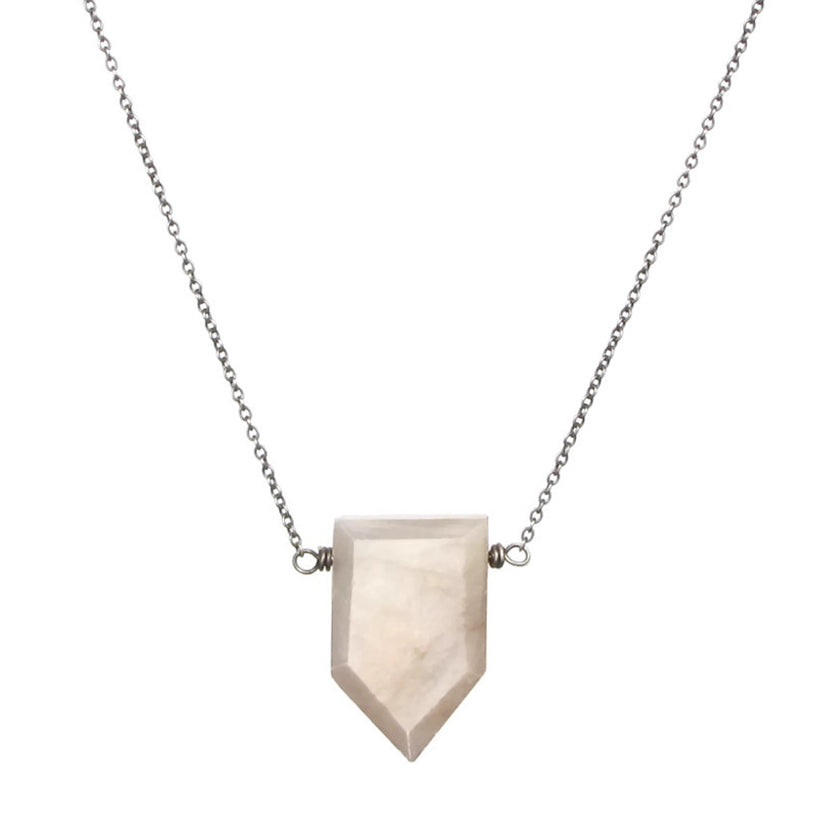 Shield Moonstone Necklace