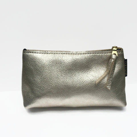 Platinum Leather Pouch