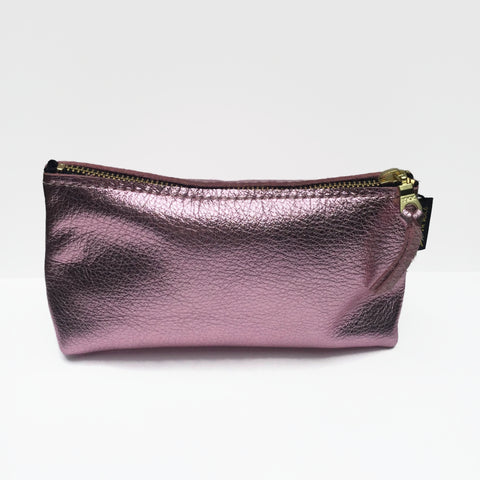 Rose Gold Leather Pouch