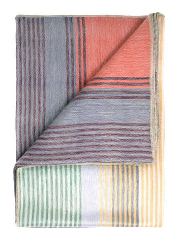Alpaca Throw Blanket - Spectrum