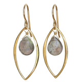 TASI DESIGNS, gold, earrings, handmade jewelry, portland, labradorite