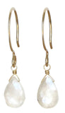 TASI DESIGNS, gold, earrings, handmade jewelry, portland, moonstone