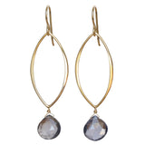 TASI DESIGNS, gold, earrings, handmade jewelry, portland, iolite