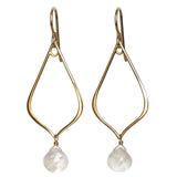 TASI DESIGNS, gold, earrings, handmade jewelry, portland, rainbow moonstone