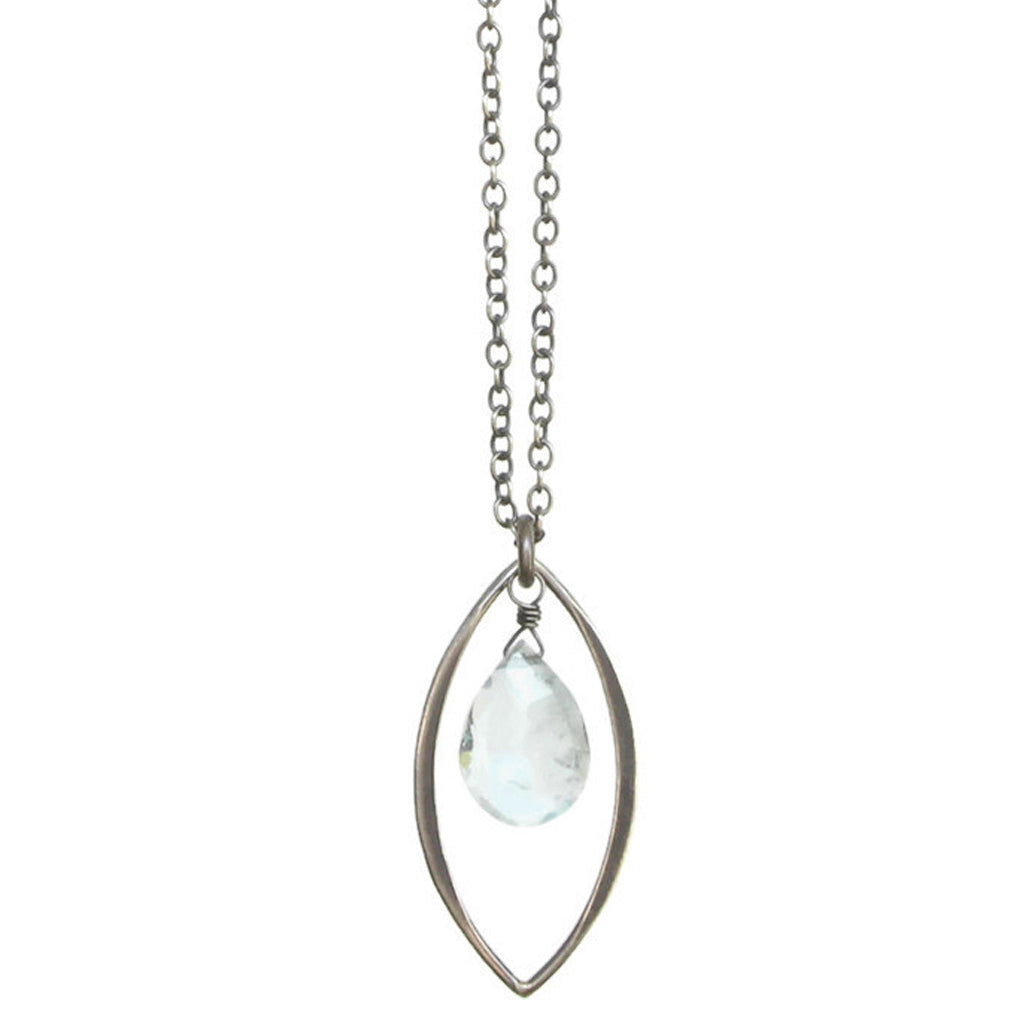 TASI DESIGNS, silver, necklaces, handmade jewelry, portland, aquamarine