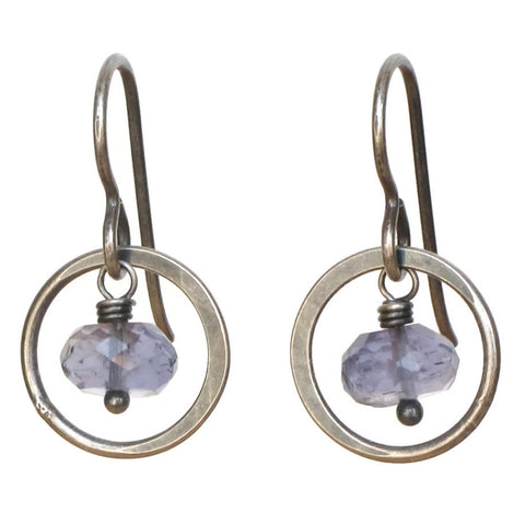 TASI DESIGNS, silver, earrings, handmade jewelry, portland, Iolite