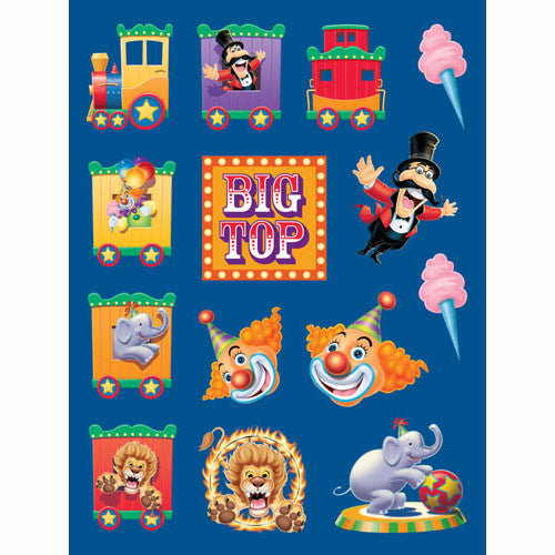 Big Top Birthday Stickers, Value