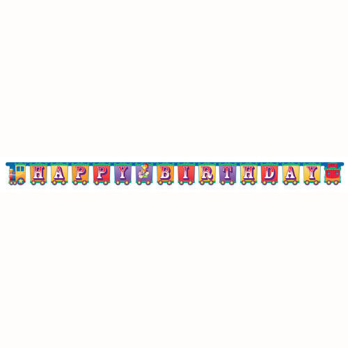 Big Top Birthday Jointed Banner, Large