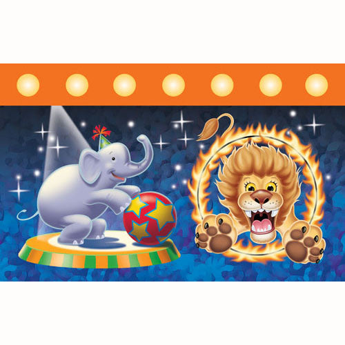 Big Top Birthday Tablecover, Plastic