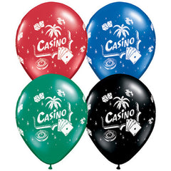 28cm Casino Assorted Latex Balloon