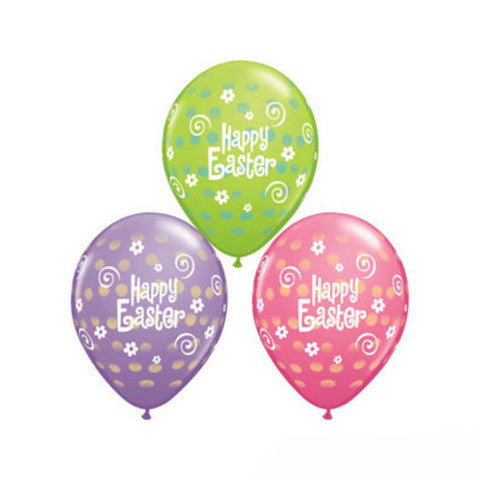 28cm Easter Polka Dots, Assorted
