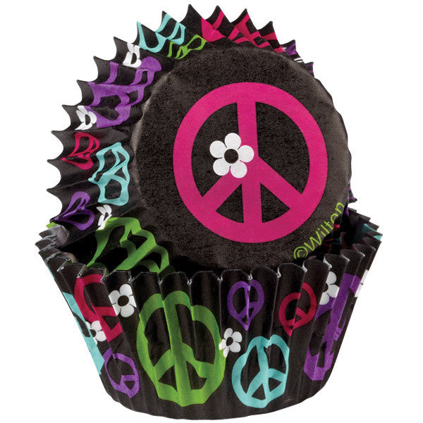 Peace Sign Std Baking Cups