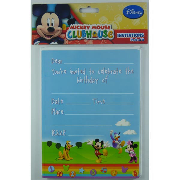 Mickey Mouse Clubhouse Invitations,