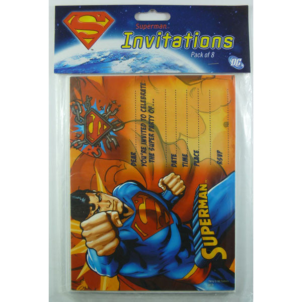 Superman Invitations,