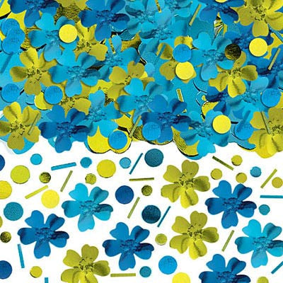 Confetti Metallic - Cool Theme Flowers Tropical