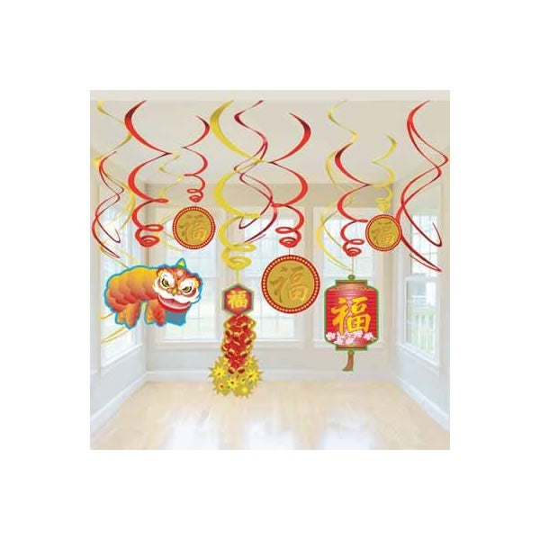 Hanging Swirls Chinese New Year Value Pack
