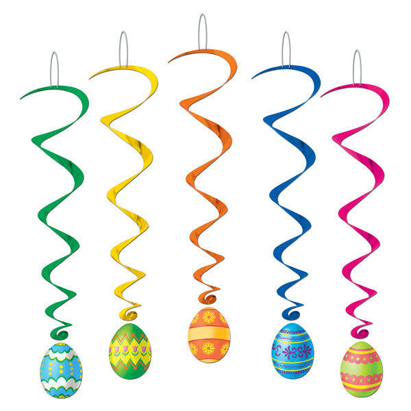 Hanging Decoration Whirls Easter Eggs,