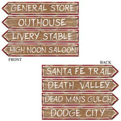 Cutout Western Signs