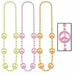 Necklace Beads Funky Peace