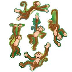 Cutouts Monkey Mini Assorted