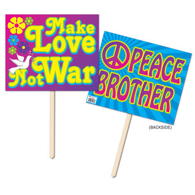 Yard Sign 60's, Hippie, Peace