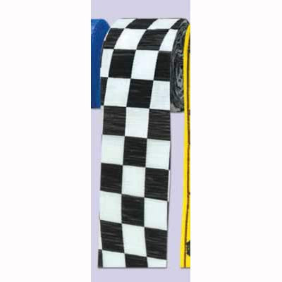 Crepe Streamer Checkered Black & White