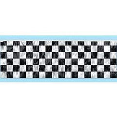 Banner Metallic Checkered Fringe