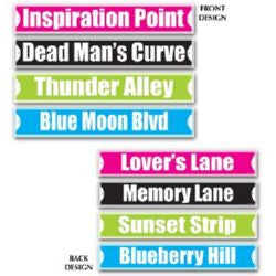 Cutout Rock and Roll Street Signs
