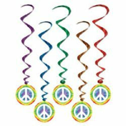 Hanging Decoration Whirls Peace Signs