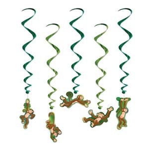 Hanging Decoration Whirls Monkey