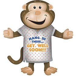 Shape Get Well Monkey