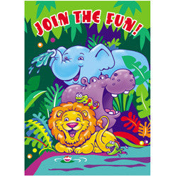 SMILING SAFARI 8 INVITATIONS