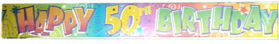 HAPPY 50th FOIL BANNER 12ft