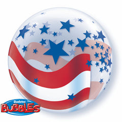 56cm Bubble Patriotic Stars & Stripes