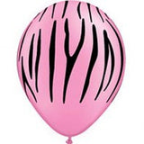28cm Zebra Stripes Black on Neon Pink