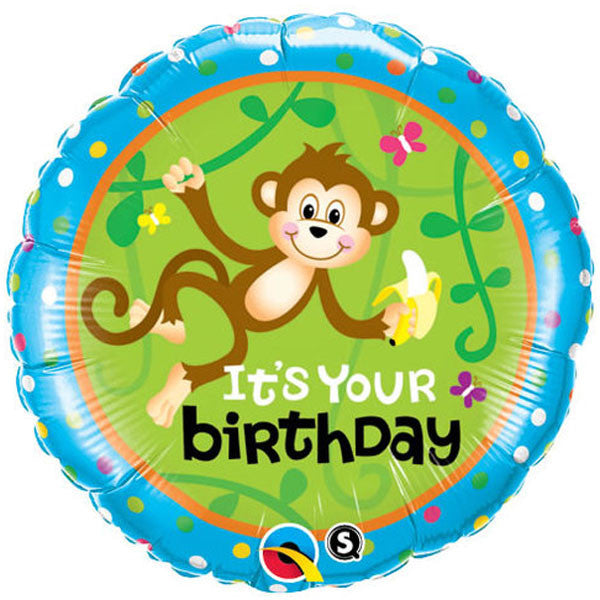 45cm Birthday Monkeys Go Bananas