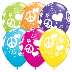 28cm Peace Signs & Hearts Tropical Assortment