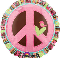 45cm Hippy Chick Peace Sign