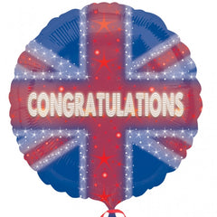 45cm Congratulations Union Jack