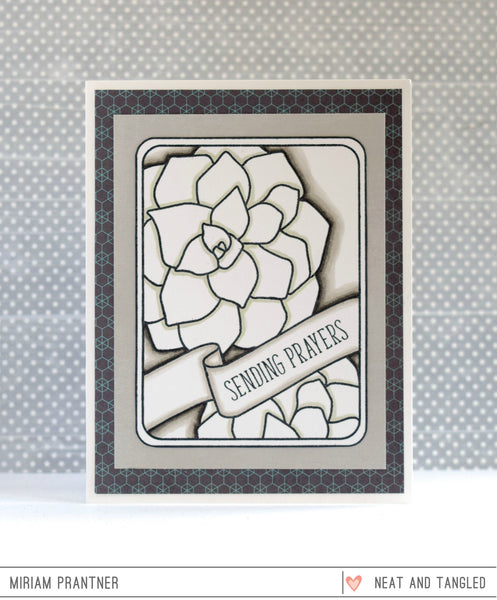 Succulent Journaling Card