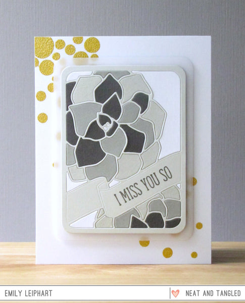 Succulent Journaling Card - Nice and Neat Die