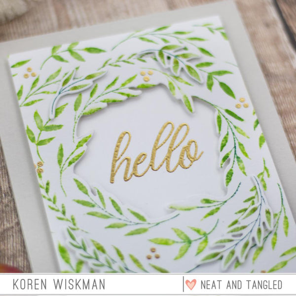 Foliage Frame - Nice and Neat Dies