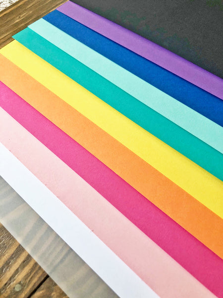 Over the Rainbow Assorted Cardstock Pack
