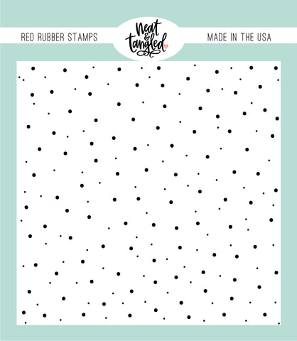 Delicate Dots Red Rubber Cling Stamps