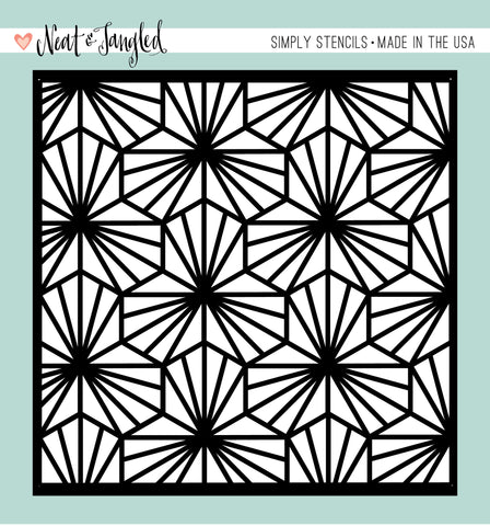 Geometric Blooms - Simply Stencils