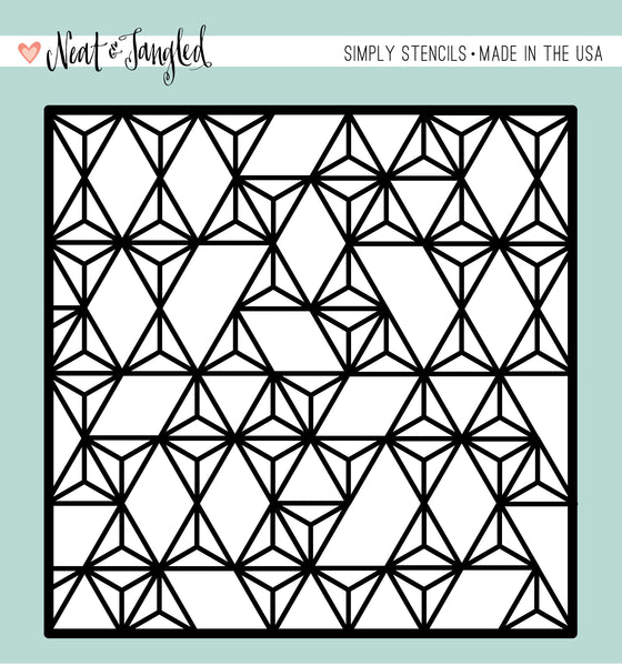 Neat & Tangled MODERN TRIANGLES - SIMPLY STENCIL