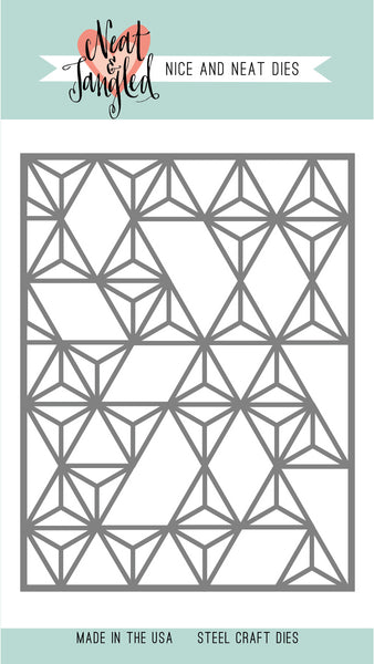 Neat & Tangled MODERN TRIANGLES COVER PLATE - NICE AND NEAT DIE