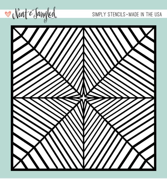 Radiating Star - Simply Stencils