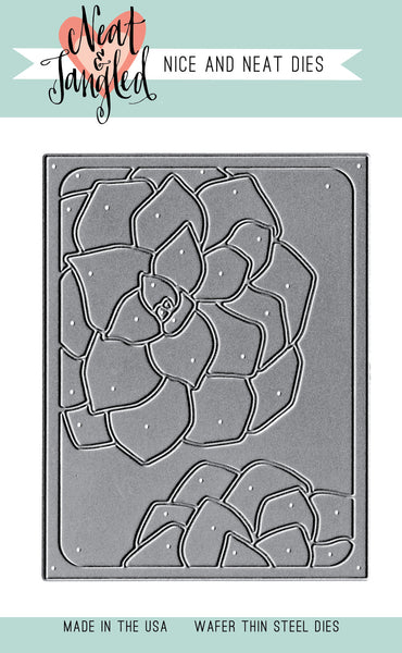 Succulent Cover Plate Die